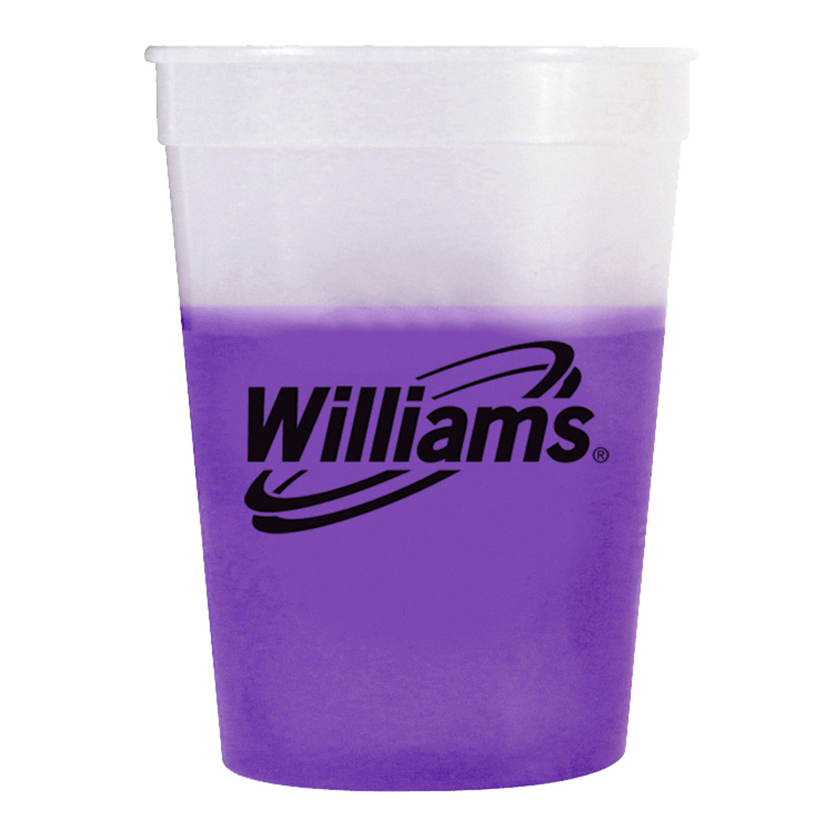 Purple Mood 12 oz. plastic mood stadium cup | mines press
