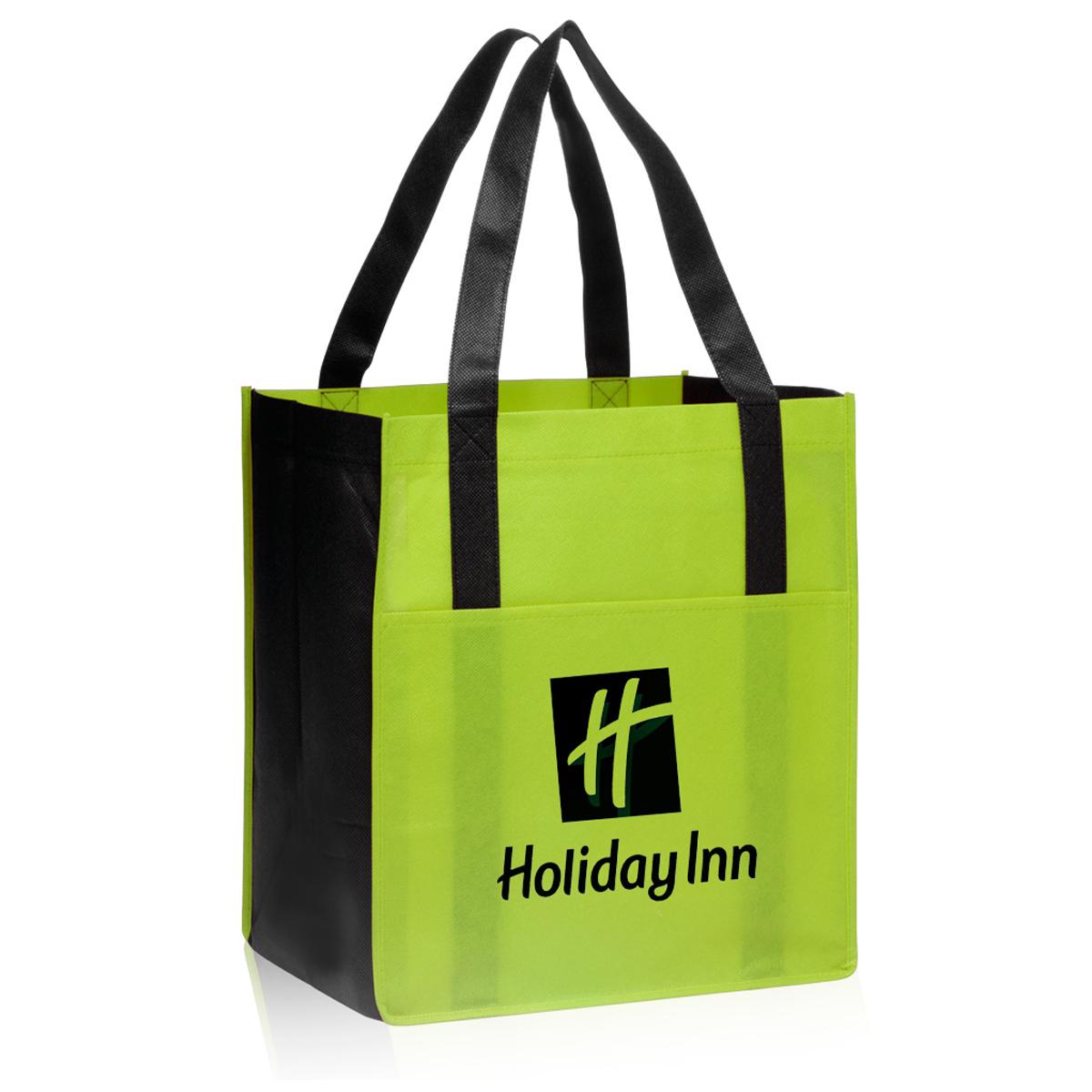 Non Woven Shopper Tote Bag 13 X 14 5 X 9 5 Mines Press