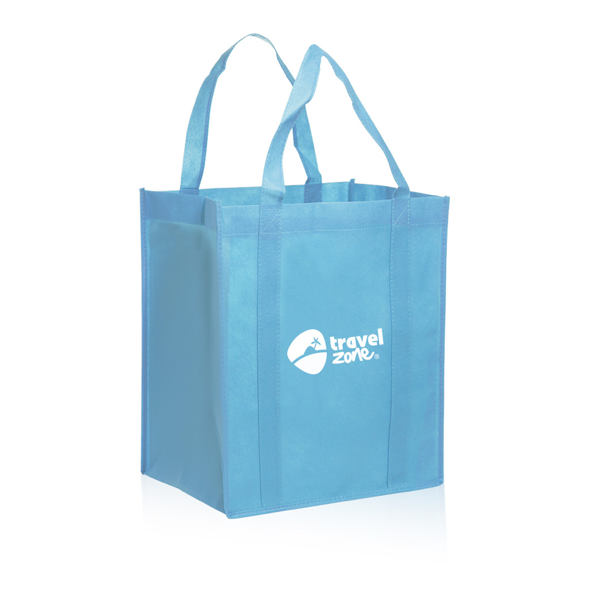 Tote bag in bulk -  Picture Of Reusable Grocery Tote Bag 13 X 15 X 10