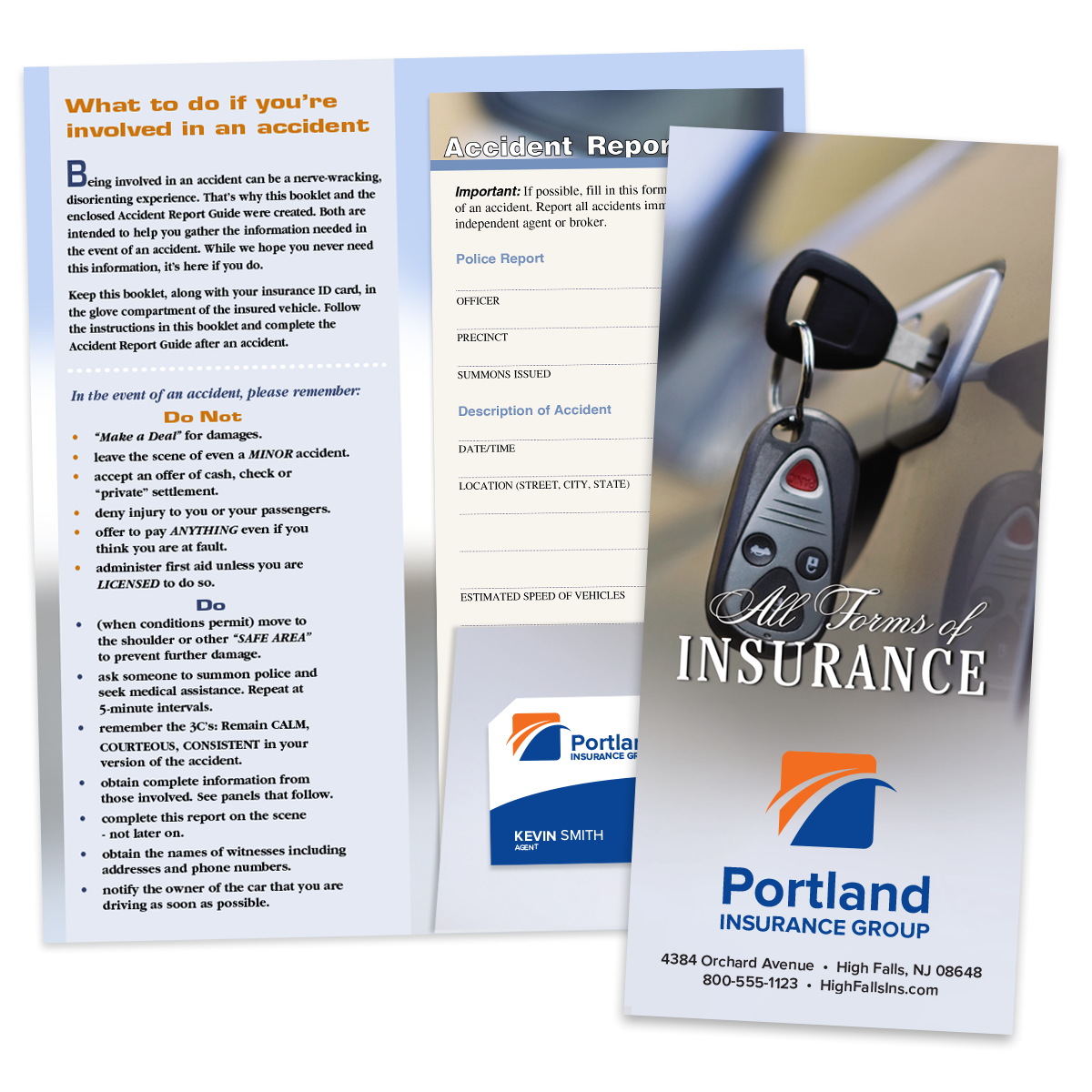picture of full color insurance card holder kits - Insurance Card Holder