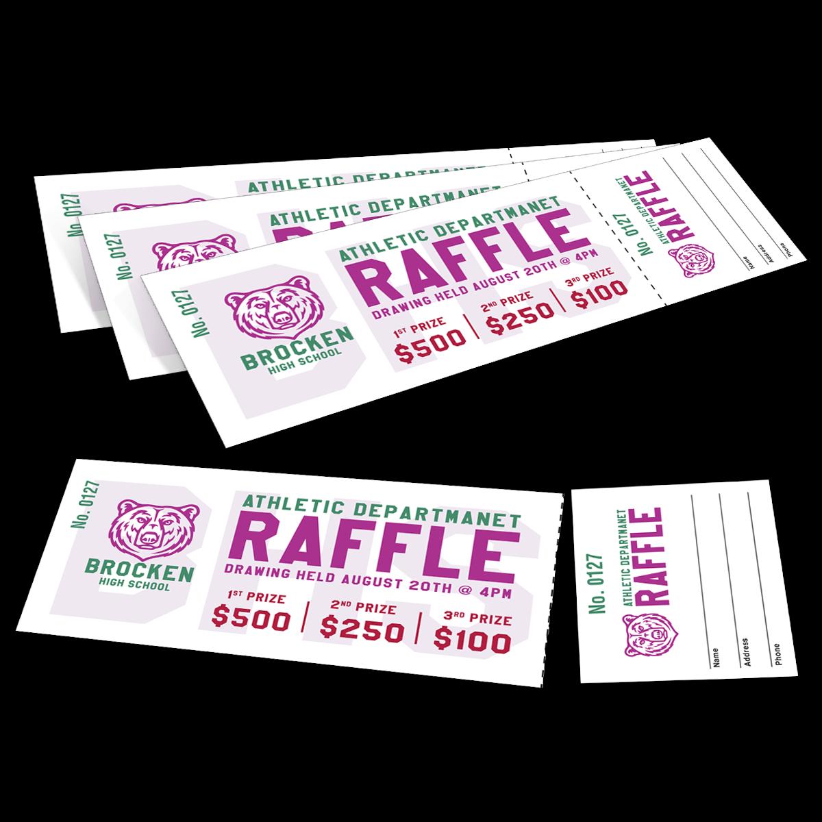 custom printed raffle tickets mines press picture of custom raffle tickets