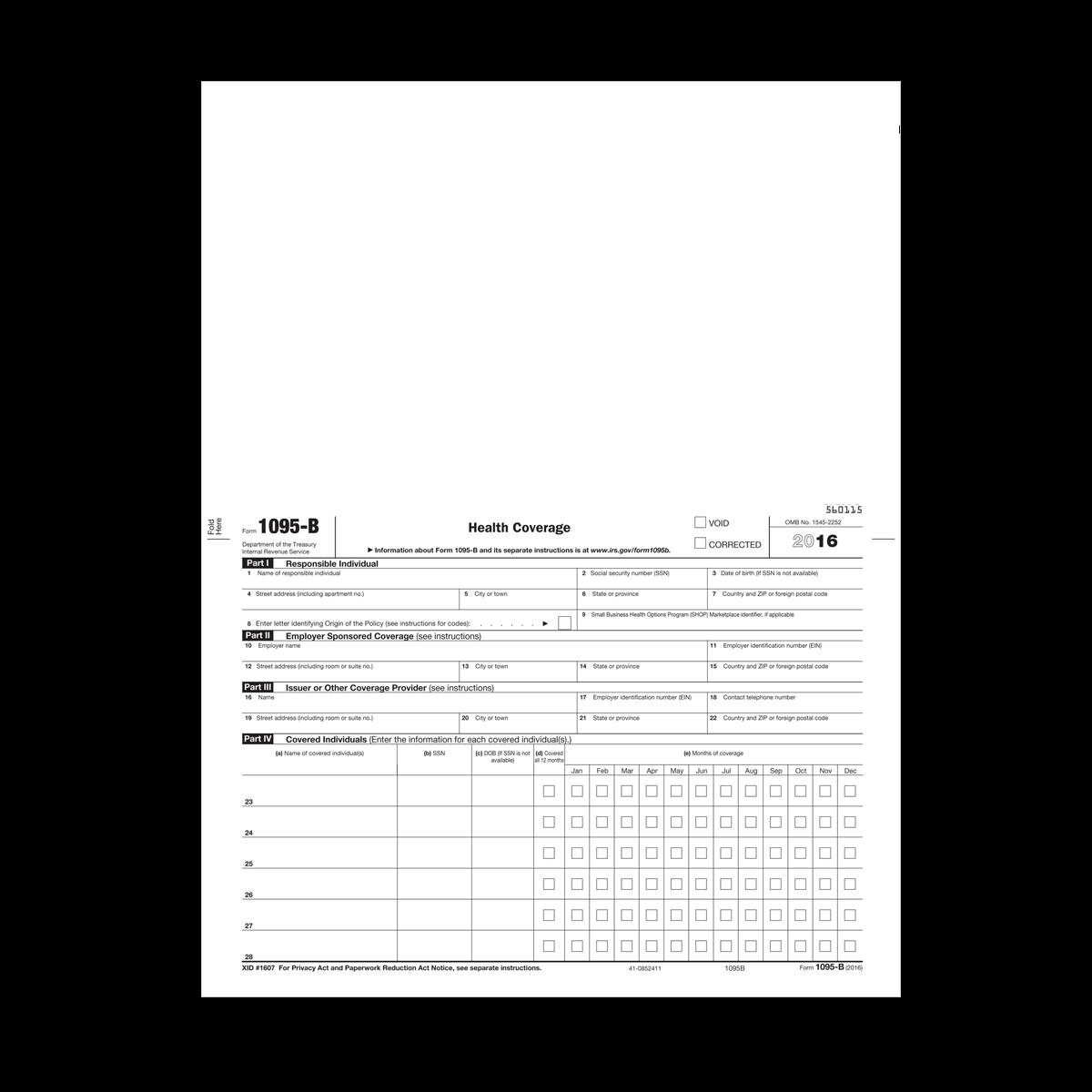 Form 1095B - Health Coverage   Mines Press