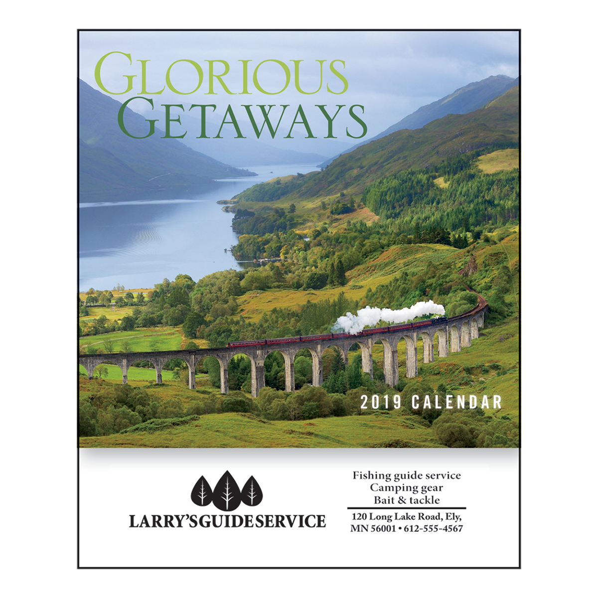 glorious getaways mini wall calendar | mines press