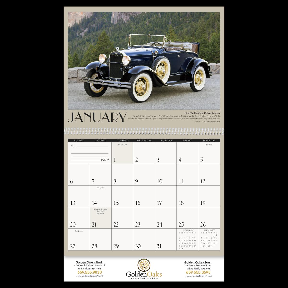 Antique Cars Wall Calendar | Mines Press