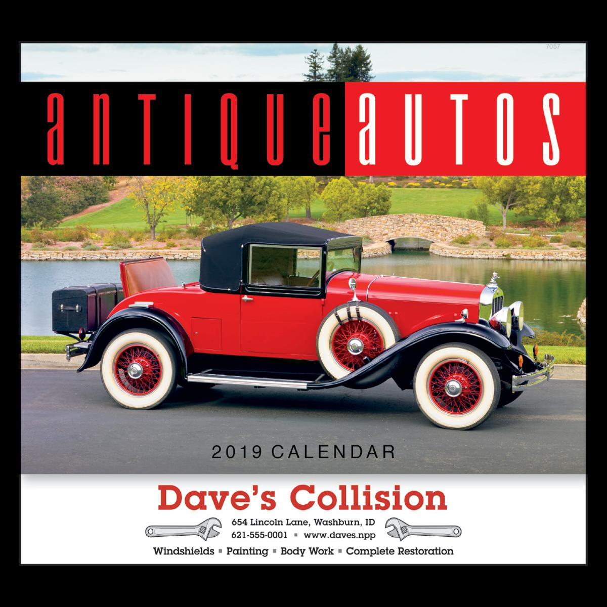 Antique Autos Wall Calendar   Mines Press