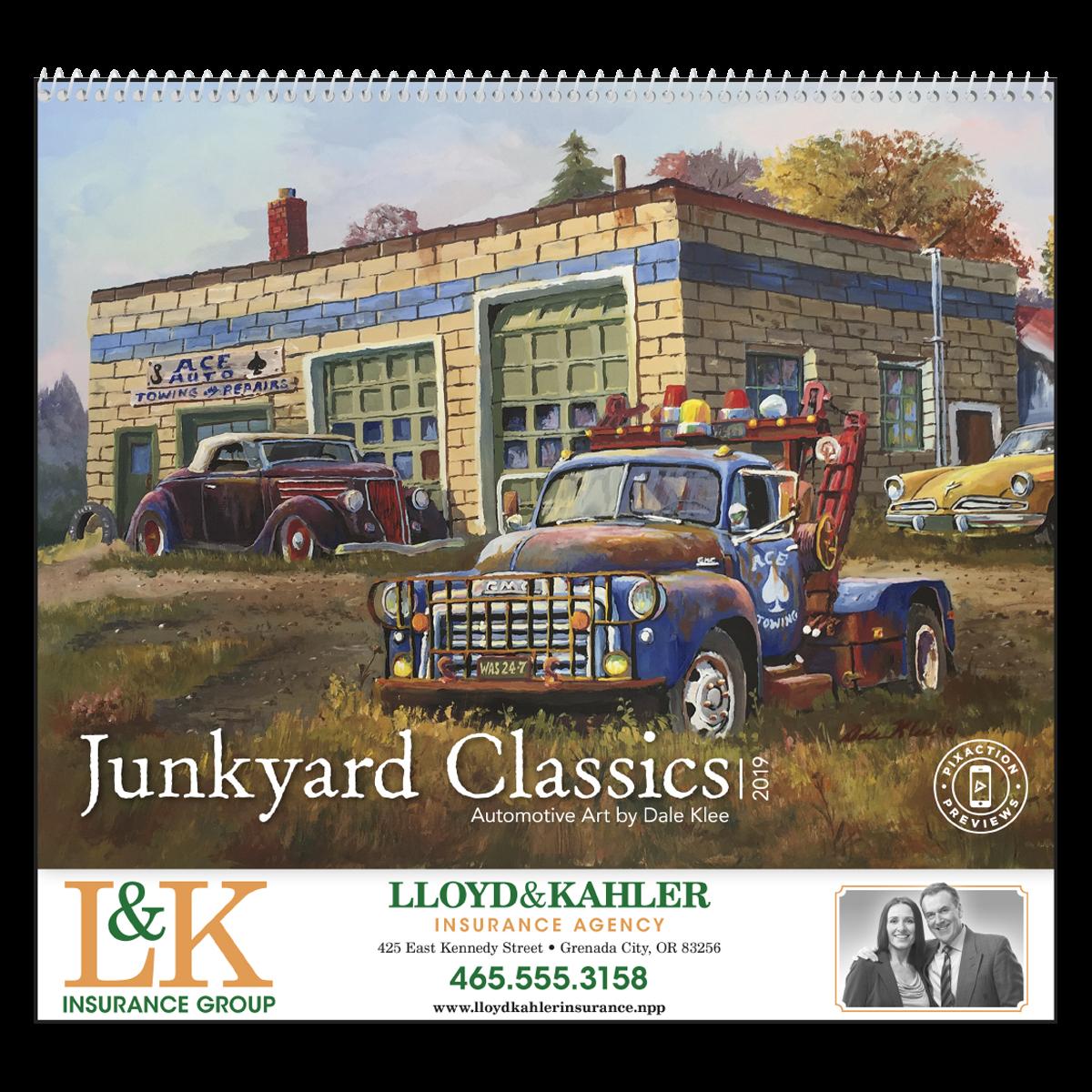 Junkyard Classics Wall Calendar | Mines Press