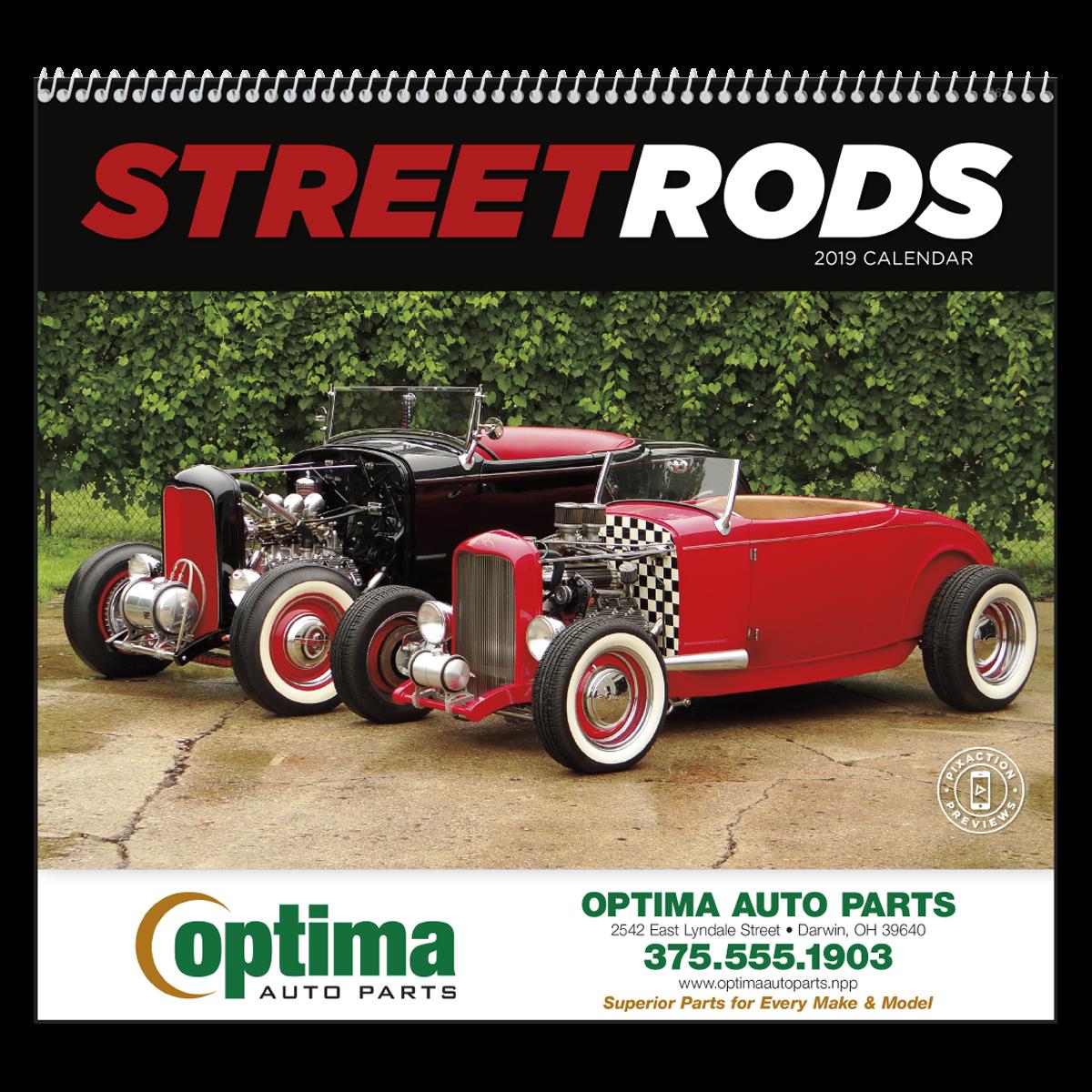 Street Rods Wall Calendar Spiral | Mines Press
