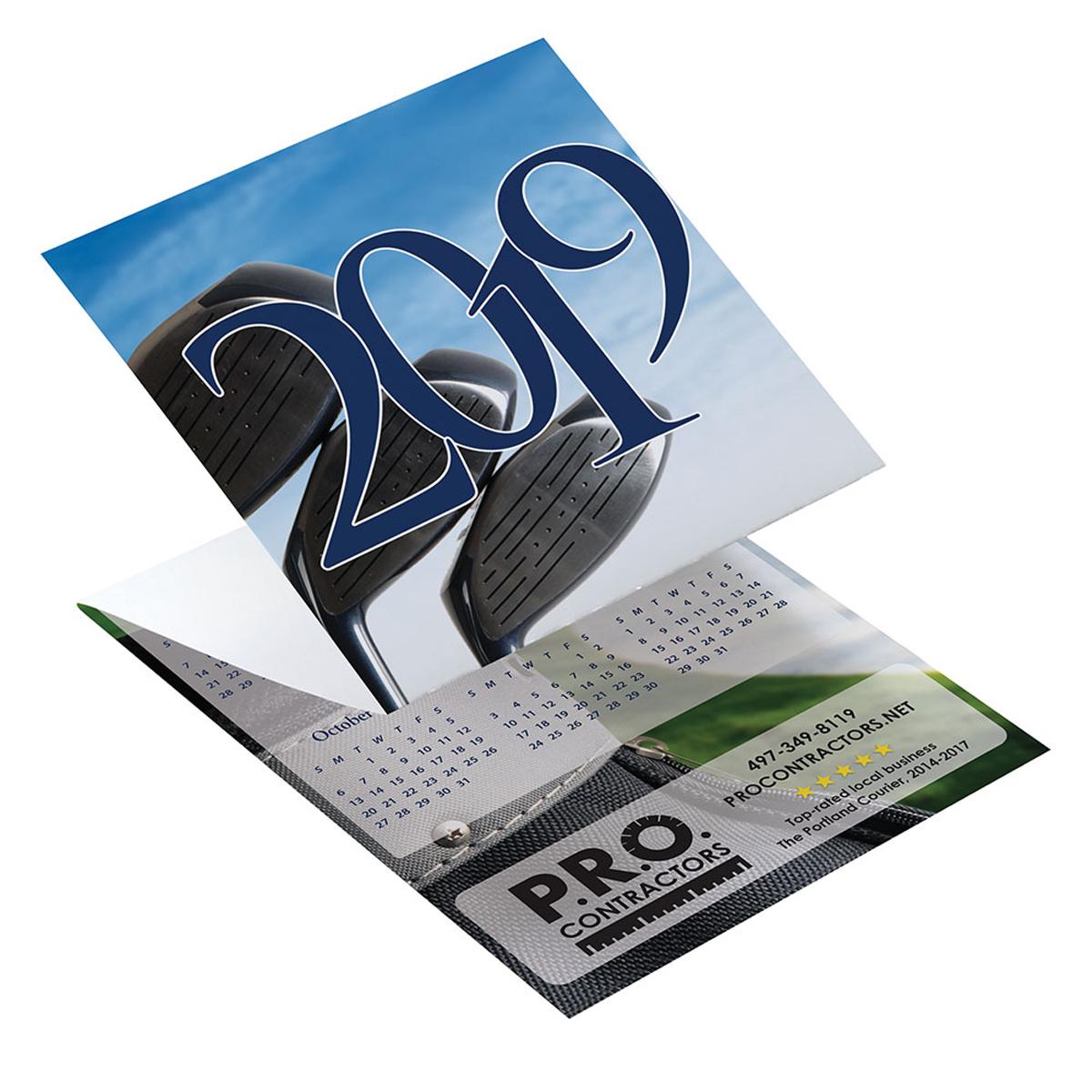 Golf tri fold greeting card calendar mines press picture of golf tri fold greeting card calendar kristyandbryce Images