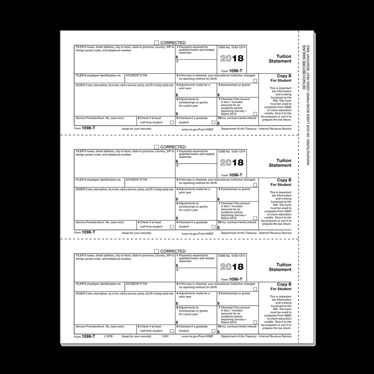 Form 1098-T Student Copy B | Mines Press