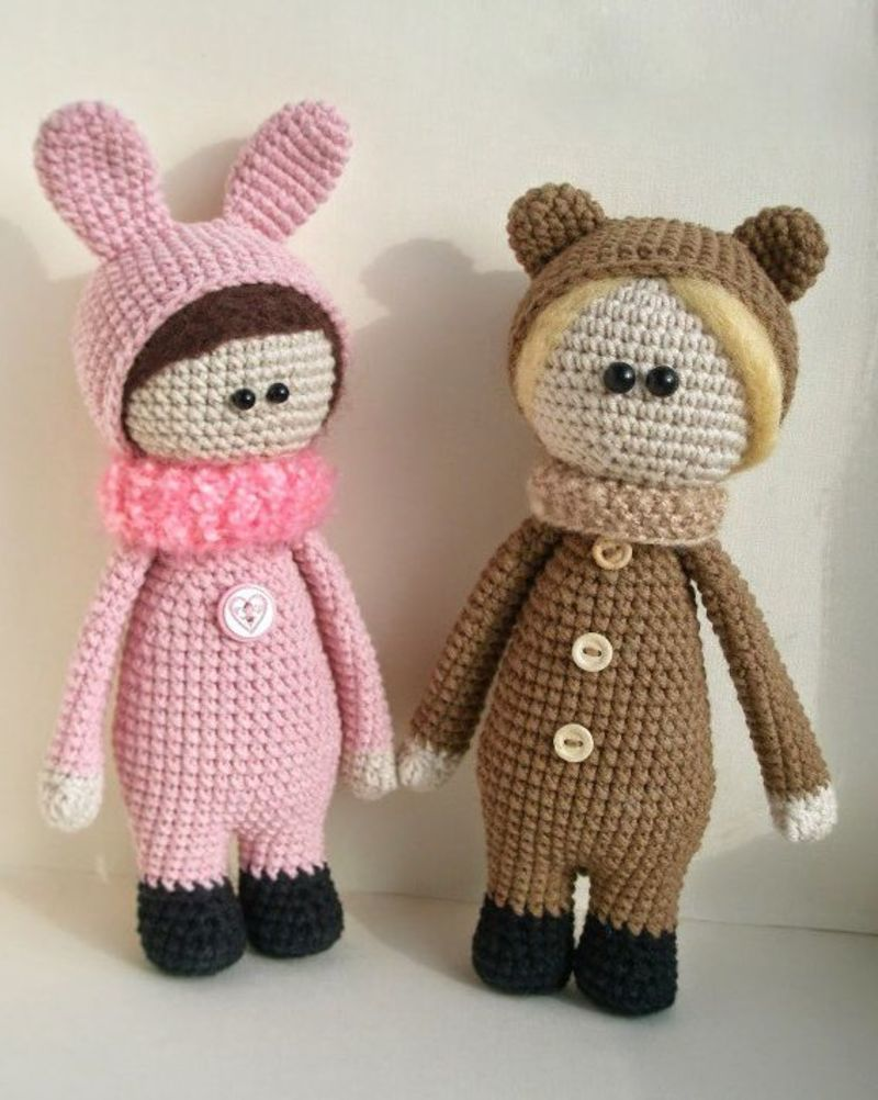 Кукла йойо схема вязания