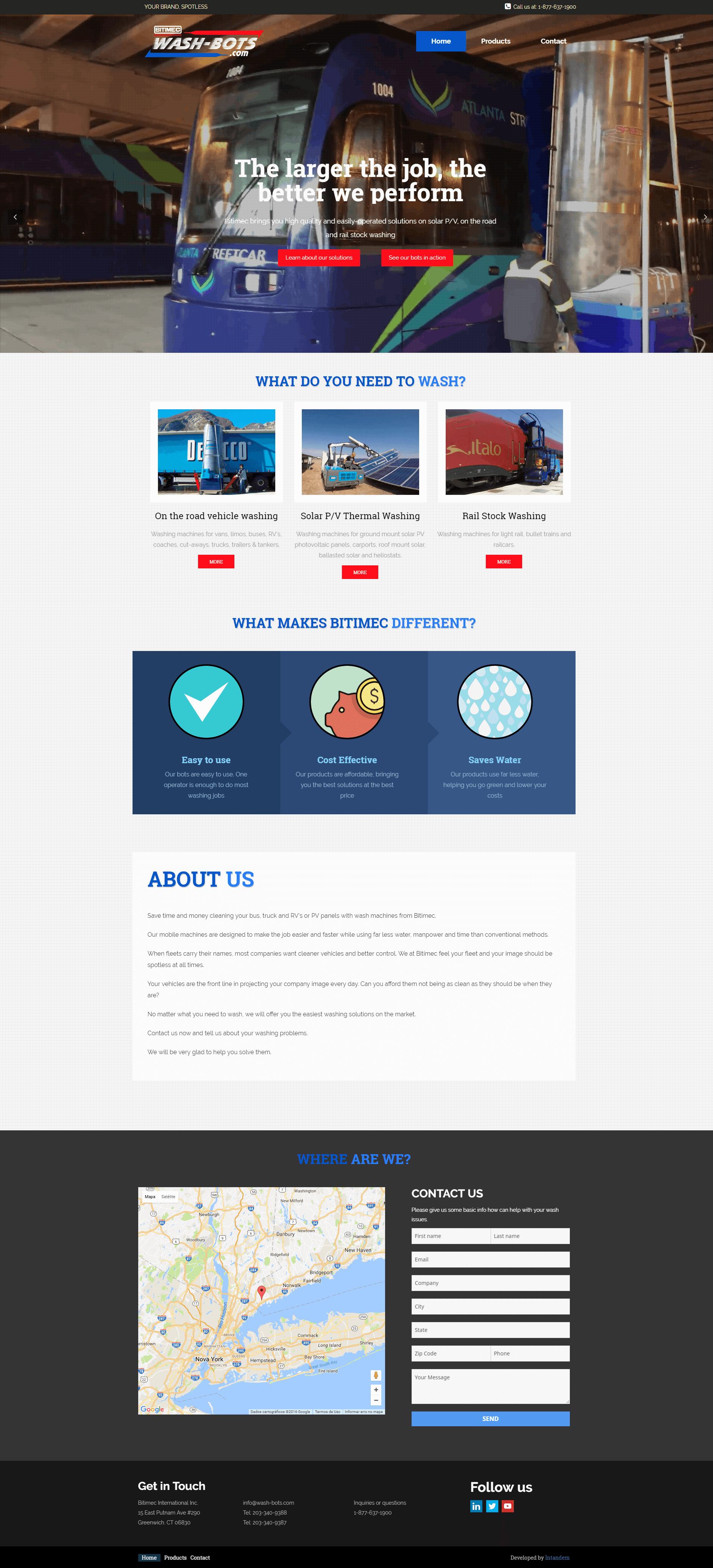 Empresa de limpeza Bitimec International - recriação