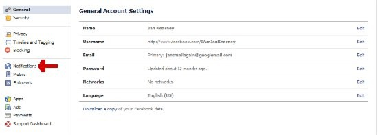turn off Facebook beep - notification settings