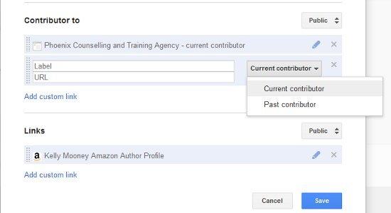 Add custom link to Google+ profile