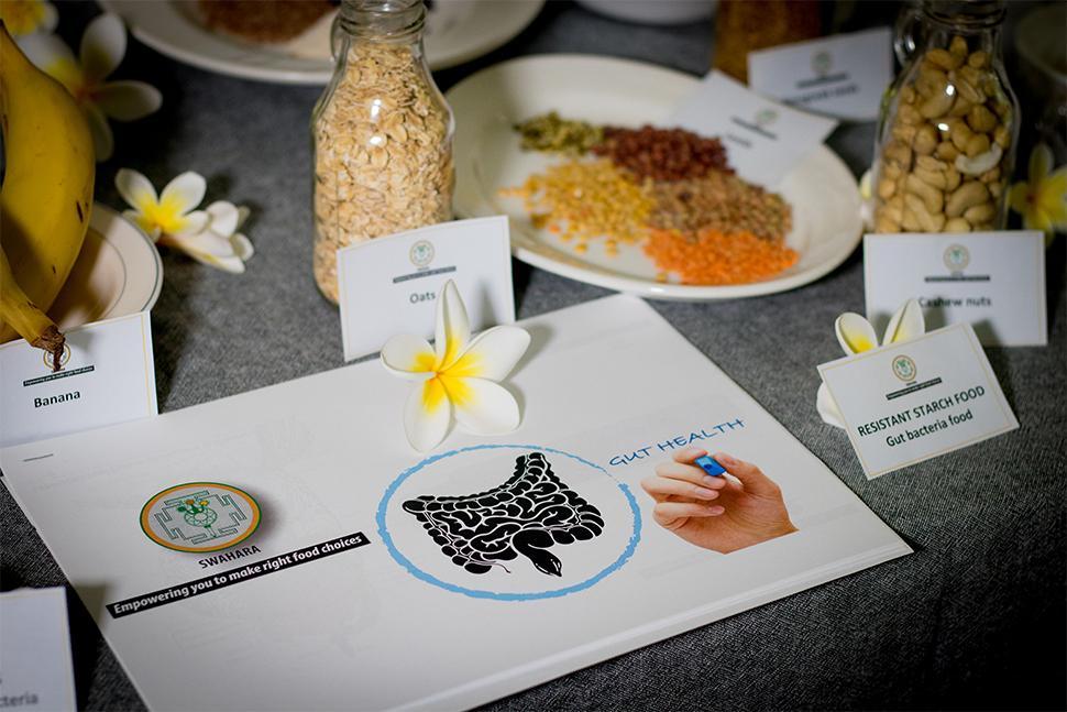 Food for gut health cooking workshop Swahara Food Mindfulness