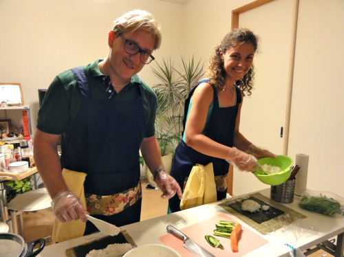 Andrea and Francesca joined Basic Japanese Cooking Visit