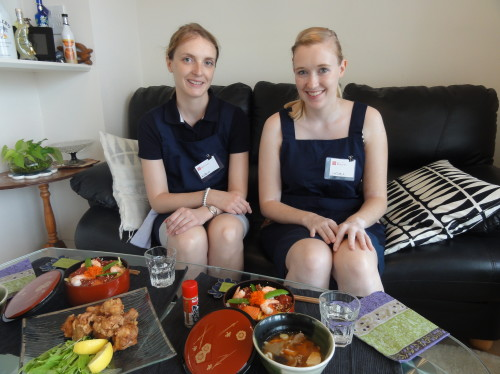 Kathrin and Viktoria joined Basic Japanese Cooking Visit