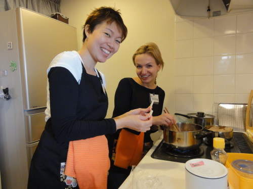 Jeanette and Monica joined Basic Japanese Cooking Visit