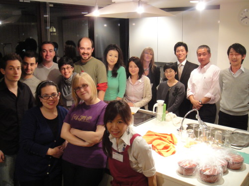 Lei, Andrea, Adrienne and Laporte joined Basic Japanese Cooking Visit