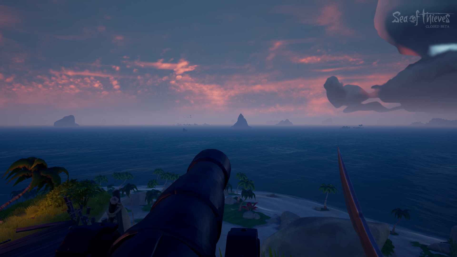 Dusk during the Sea of Thieves Beta