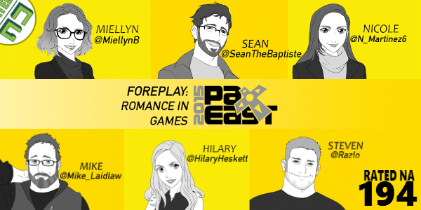 Rated NA 194: Foreplay Romance In Games @ PAX East 2015
