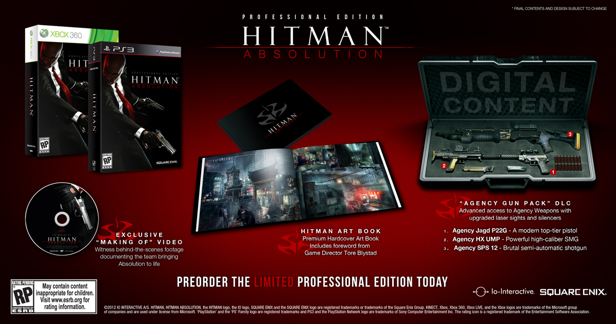 Hitman: Absolution Pre-order Bonuses Detailed
