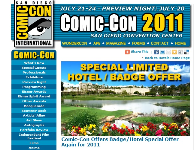 Want To Go To Comic Con 2011?  HURRY YOU STILL CAN!
