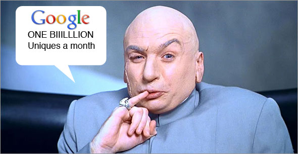 Google Hits 1 Billion Uniques A Month