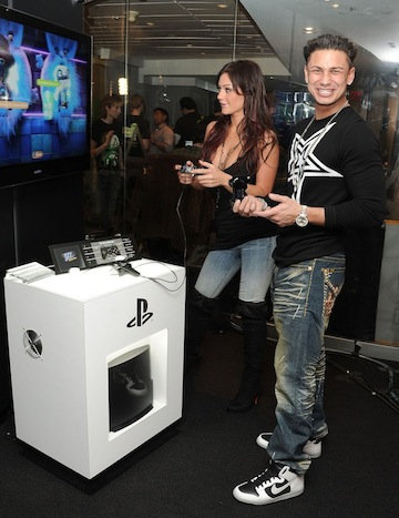 Jersey Shore`s Jenni `Jwoww` Farley And Pauly D Celebrate The Launch Of LittleBigPlanet 2 For PlayStation 3 At The Sony Style Store