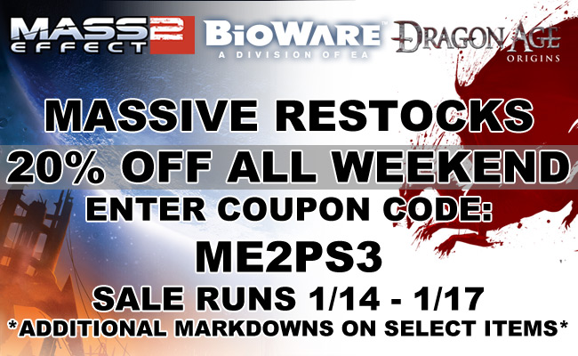 This Weekend Get 20% Off BioWare Merch With This Magic Code!