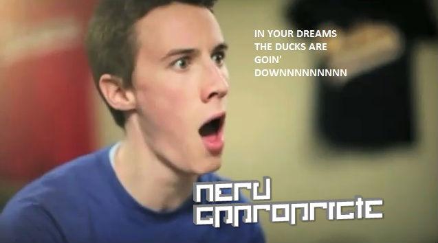 Ducks Going Down