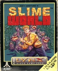 Todd's Adventures In Slime World Cover Art (Atari Lynx)