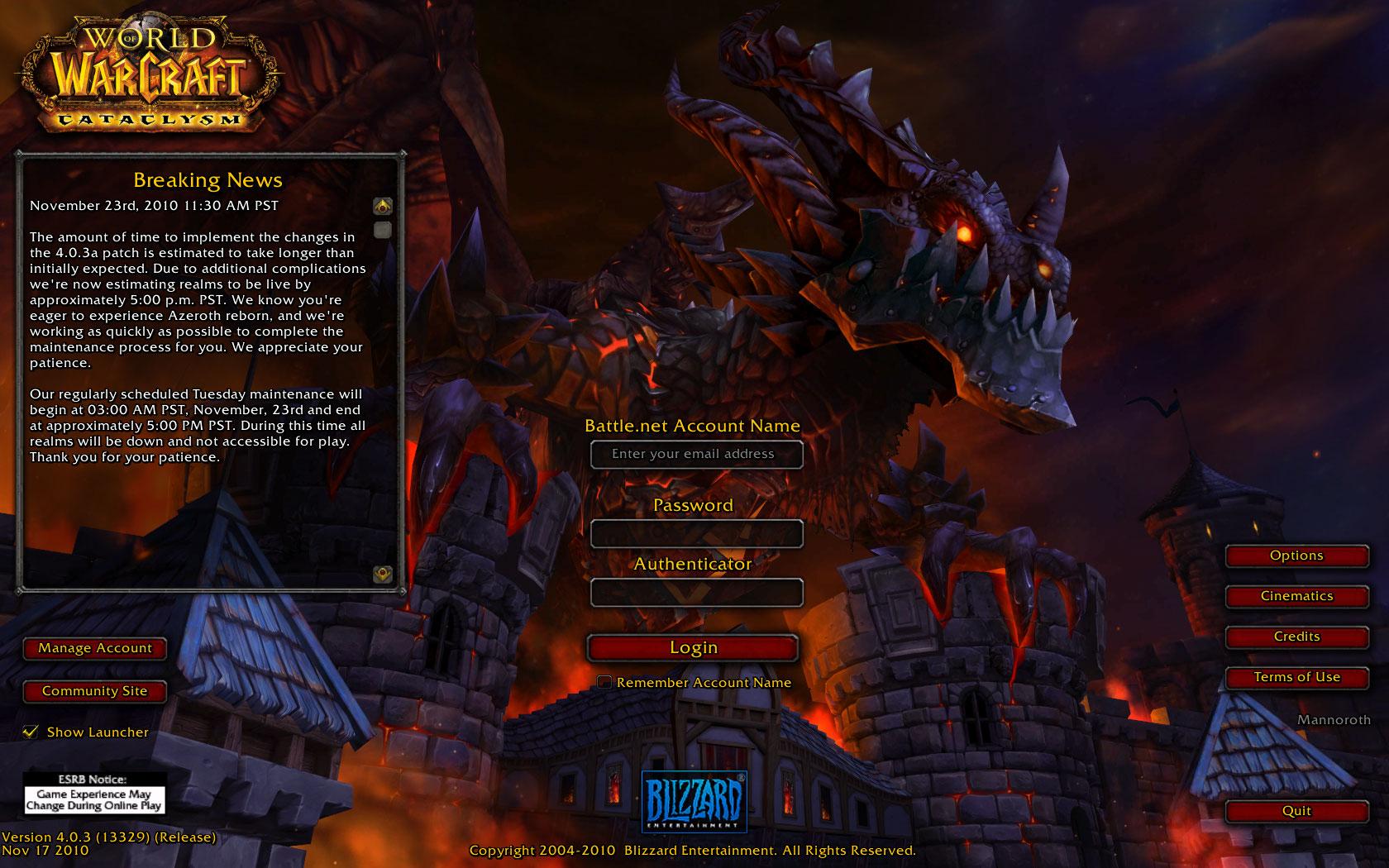 The New Login. No More Bone Dragons.