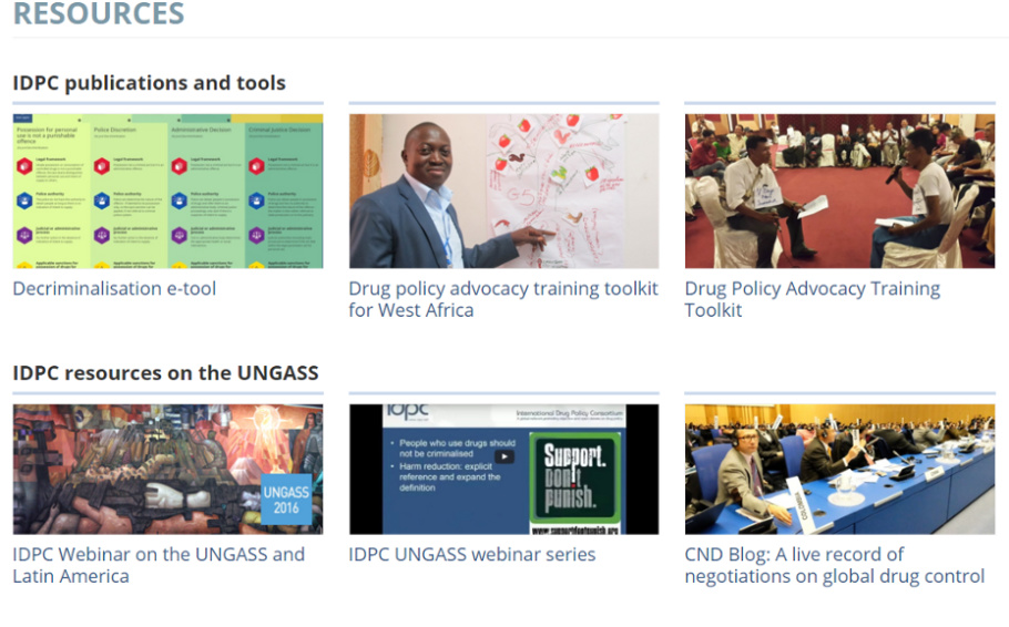 Training, knowledge and advocacy resources on drug policy and the UNGASS 2016
