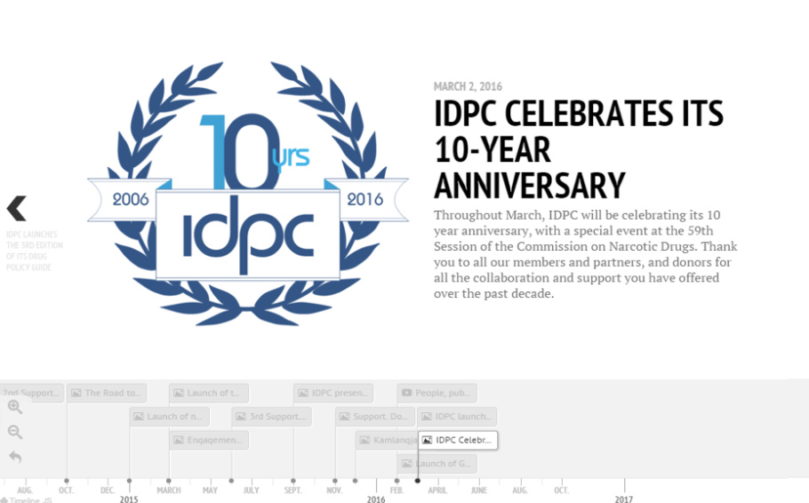 Explore our past and recent achievements with our Anniversary Timeline: 2006 - 2016