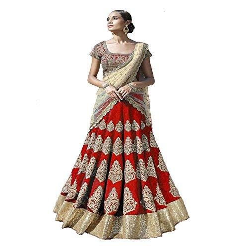 Jalpari Fashion Women's Silk Semi-stitched Lengha Choli Price in India