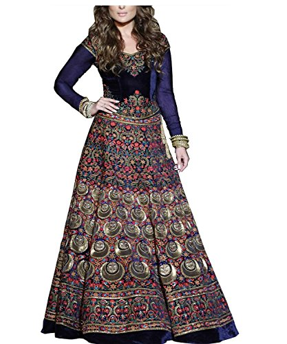 Royal Export women's Bangalori silk digital printed Semi-stitched lehenga choli Price in India