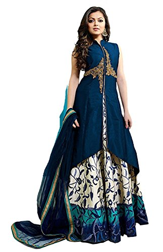 Marvadi Collaction Designer Fancy Partywear Wedding Indo - Westren Style Gown For Women And Girls Price in India