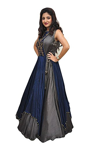 Aarna Fashion's Latest gowns for women party wear lehenga choli for women party wear salwar suits for women stitched dress materials for women navratri special Long Gown Printed gown Price in India