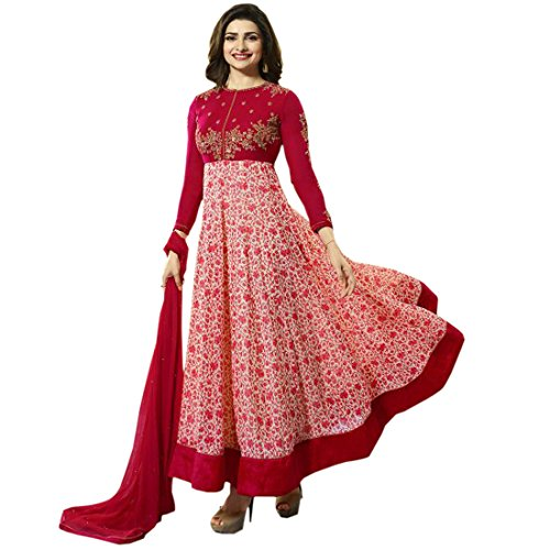 Bipolar Life Red Color Printed and Embroidery with Stone Work Georgette Material Semi Stitched Salwar Suit Price in India