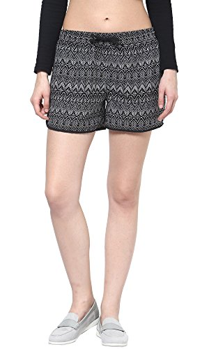 The Gud Look Women's Soft Woven Printed Shorts Price in India