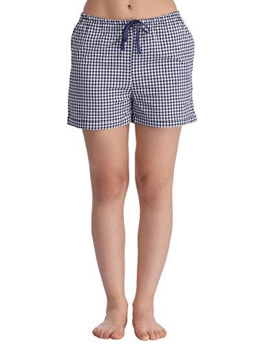 Clovia Women Cotton Checked Shorts Price in India