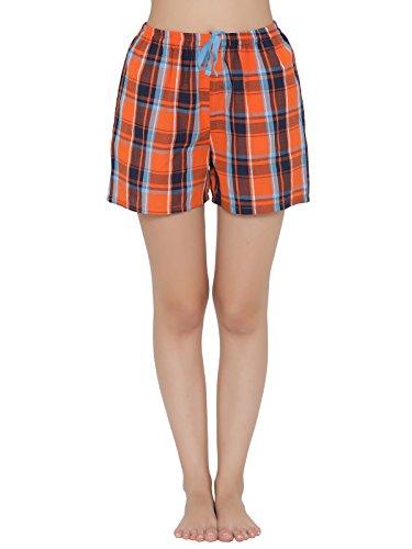 Clovia Women's Cotton Checked Boxer Shorts Price in India