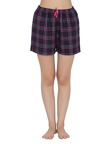 Clovia Womens Checked Boxers with Drawstring Fastening Price in India