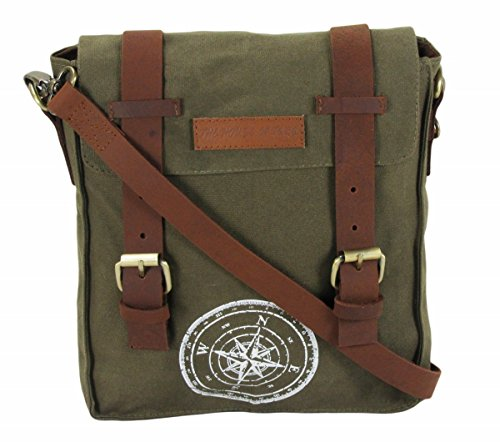 The House Of Tara Wax Coated Cotton Canvas Messenger Bag Price in India