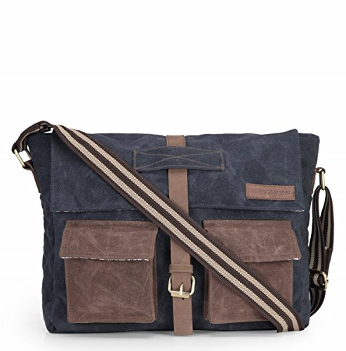 The House Of Tara Distress Finish Crossbody Canvas Messenger Bag Price in India