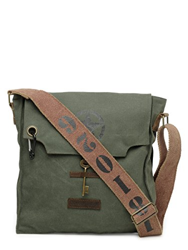 The House Of Tara 100% Cotton Canvas Messenger bag in Distress Finish Price in India