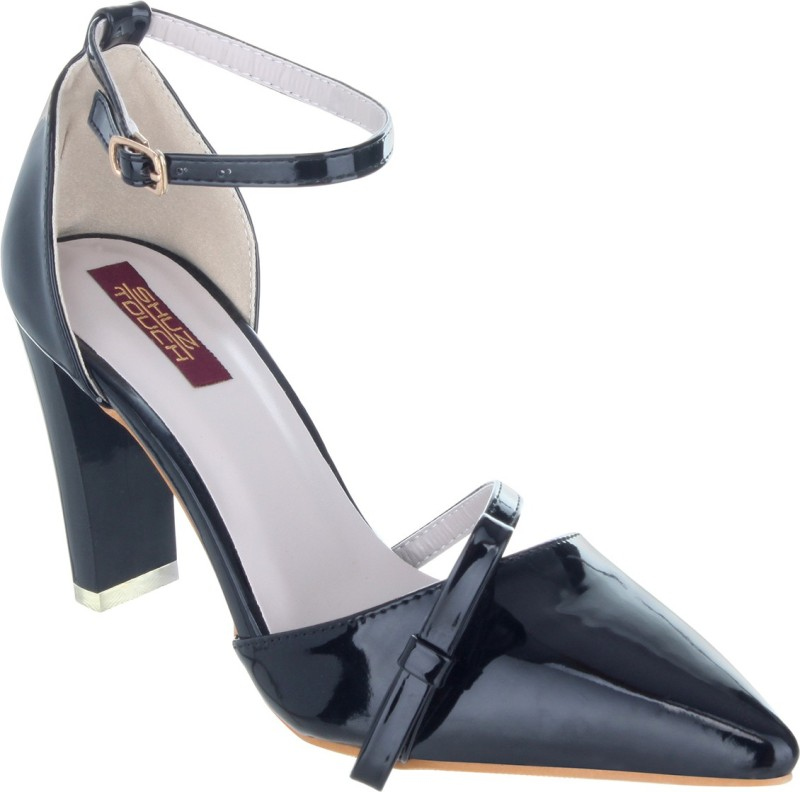 Shuz Touch Women BLACK Heels Price in India