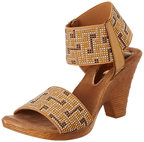 Catwalk Women's Bronze Fashion Sandals - 7 UK/India Price in India