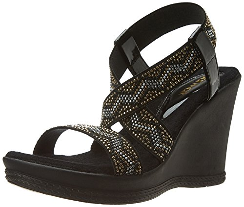 Catwalk Women's Black Sandals - 8 UK/India Price in India