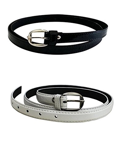 Vbirds Girl's PU leather belts set of 2 combo Price in India